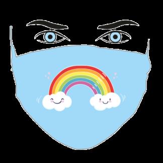mascherina bambini ARCOBALENO-CELESTE