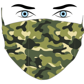 mascherina uomo CAMOUFLAGE-MILITARE